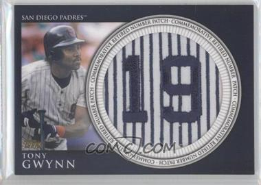 2012 Topps - Manufactured Retired Number Patch #RN-TG - Tony Gwynn