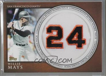 2012 Topps - Manufactured Retired Number Patch #RN-WM - Willie Mays