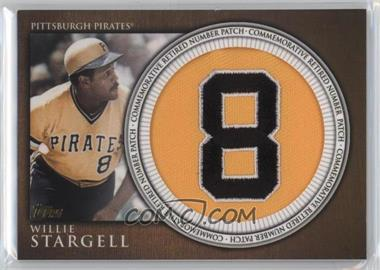 2012 Topps - Manufactured Retired Number Patch #RN-WS - Willie Stargell