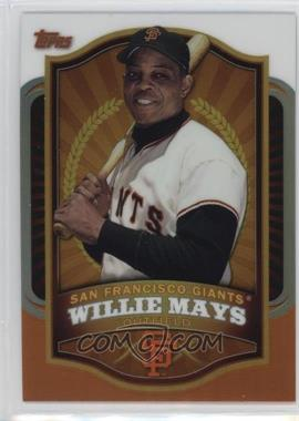 2012 Topps - Mega Boxes Exclusive Chrome Refractors #MBC2 - Willie Mays