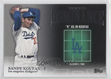 2012 Topps - Mound Dominance #MD-3 - Sandy Koufax