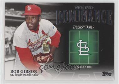 2012 Topps - Mound Dominance #MD-6 - Bob Gibson