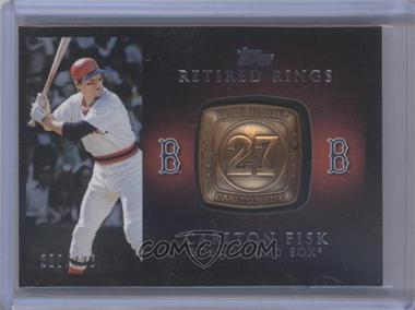 2012 Topps - Retired Rings #RR-CF - Carlton Fisk /736