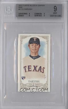 2012 Topps Allen & Ginter's - [Base] - Minis #4 - Yu Darvish [BGS 9]
