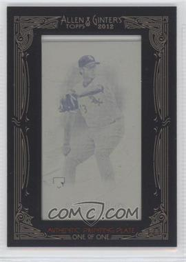 2012 Topps Allen & Ginter's - [Base] - Printing Plate Mini Yellow Framed #190 - Addison Reed /1