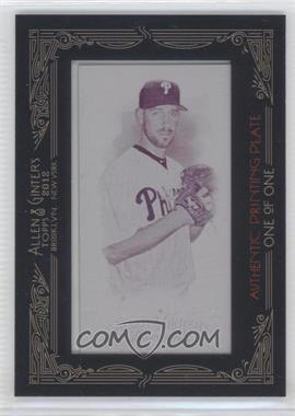 2012 Topps Allen & Ginter's - [Base] - Printing Plate Minis Magenta Framed #360 - Cliff Lee /1