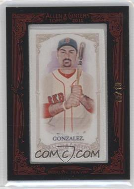 2012 Topps Allen & Ginter's - [Base] - Silk Mini Framed #ADGO - Adrian Gonzalez /10