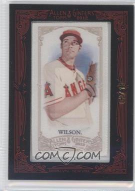 2012 Topps Allen & Ginter's - [Base] - Silk Mini Framed #CJWI - C.J. Wilson /10
