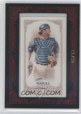 2012 Topps Allen & Ginter's - [Base] - Silk Mini Framed #MINO - Mike Napoli /10