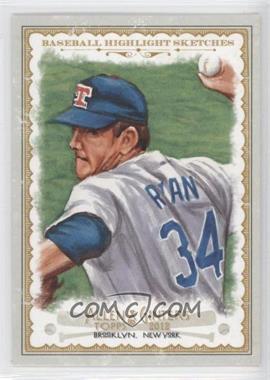 2012 Topps Allen & Ginter's - Baseball Highlight Sketches #BH-11 - Nolan Ryan