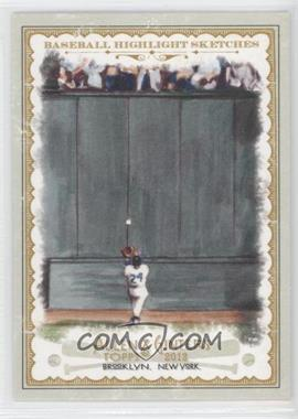 2012 Topps Allen & Ginter's - Baseball Highlight Sketches #BH-21 - Willie Mays