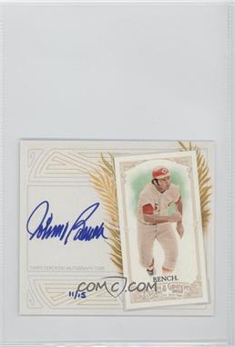 2012 Topps Allen & Ginter's - Box Loader N43 - Certified Autograph [Autographed] #N43A-JB - Johnny Bench /15