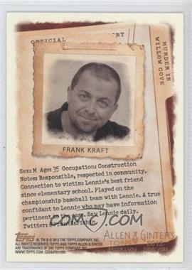 2012 Topps Allen & Ginter's - Code Cards #N/A - Frank Kraft
