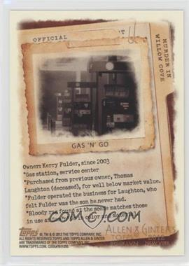 2012 Topps Allen & Ginter's - Code Cards #N/A - Gas 'N' Go