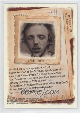 2012 Topps Allen & Ginter's - Code Cards #N/A - Jake Perry