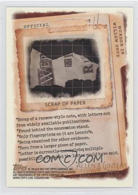 2012 Topps Allen & Ginter's - Code Cards #N/A - Scrap of Paper