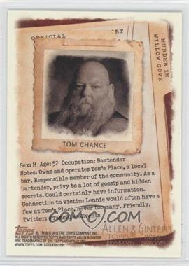 2012 Topps Allen & Ginter's - Code Cards #N/A - Tom Chance
