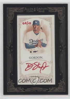 2012 Topps Allen & Ginter's - Framed Mini Autographs - Red Ink [Autographed] #AGA-DG - Dee Gordon /10