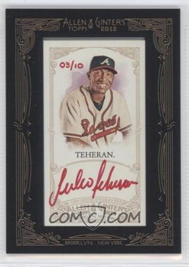 2012 Topps Allen & Ginter's - Framed Mini Autographs - Red Ink [Autographed] #AGA-JT - Julio Teheran /10