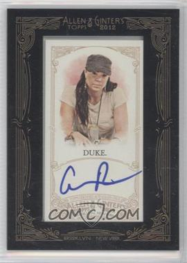 2012 Topps Allen & Ginter's - Framed Mini Autographs #AGA-ADK - Annie Duke