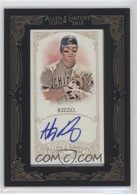 2012 Topps Allen & Ginter's - Framed Mini Autographs #AGA-AR - Anthony Rizzo