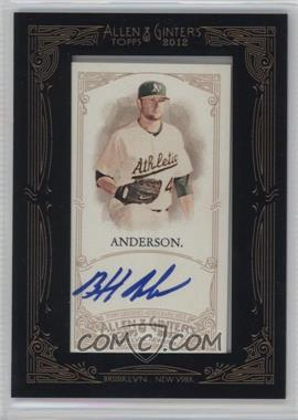 2012 Topps Allen & Ginter's - Framed Mini Autographs #AGA-BA - Brett Anderson