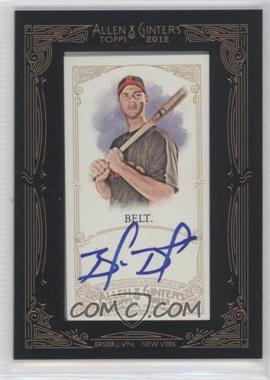 2012 Topps Allen & Ginter's - Framed Mini Autographs #AGA-BB - Brandon Belt