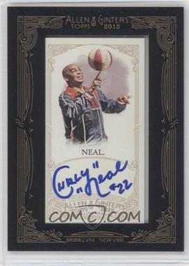 2012 Topps Allen & Ginter's - Framed Mini Autographs #AGA-CNE - Curly Neal