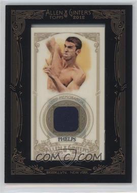 2012 Topps Allen & Ginter's - Framed Mini Relics #AGR-MPH - Michael Phelps