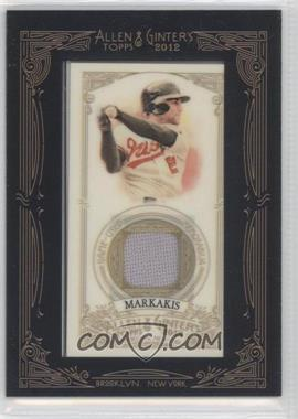 2012 Topps Allen & Ginter's - Framed Mini Relics #AGR-NM - Nick Markakis