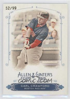 2012 Topps Allen & Ginter's - Rip Cards - Ripped #RC38 - Carl Crawford /99
