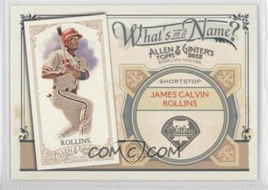 2012 Topps Allen & Ginter's - What's in a Name? #WIN44 - Jimmy Rollins
