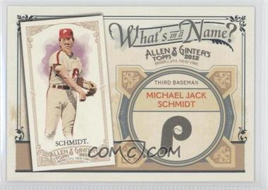 2012 Topps Allen & Ginter's - What's in a Name? #WIN50 - Mike Schmidt