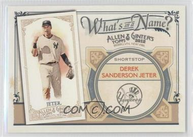 2012 Topps Allen & Ginter's - What's in a Name? #WIN52 - Derek Jeter