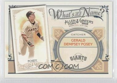 2012 Topps Allen & Ginter's - What's in a Name? #WIN59 - Buster Posey