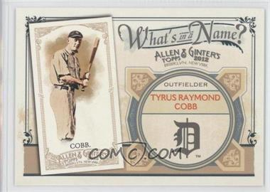 2012 Topps Allen & Ginter's - What's in a Name? #WIN82 - Ty Cobb