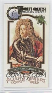 2012 Topps Allen & Ginter's - World's Greatest Military Leaders Minis #ML-17 - Duke of Marlborough