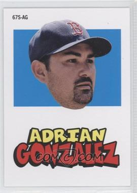 2012 Topps Archives - 1967 Stickers #67S-AG - Adrian Gonzalez