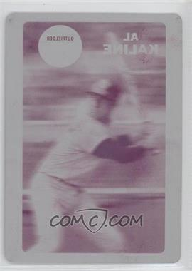 2012 Topps Archives - 1968 3D - Printing Plate Magenta #683 - Al Kaline /1