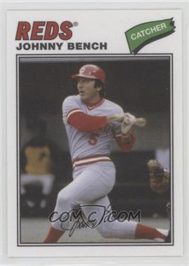 2012 Topps Archives - 1977 Cloth Patches #77C-JB - Johnny Bench