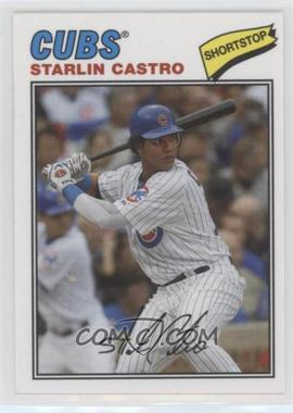 2012 Topps Archives - 1977 Cloth Patches #77C-SCA - Starlin Castro