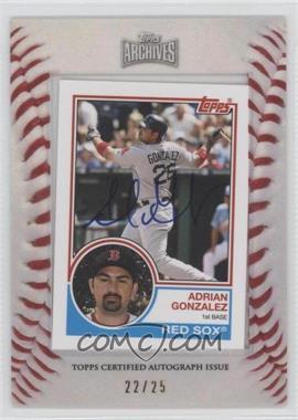 2012 Topps Archives - 1983 Mini Framed Autographs - [Autographed] #83M-AG - Adrian Gonzalez /25