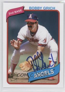 2012 Topps Archives - Fan Favorites - Certified Autograph [Autographed] #FFA-BG - Bobby Grich