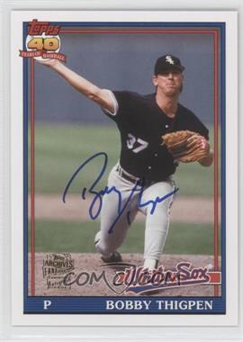 2012 Topps Archives - Fan Favorites - Certified Autograph [Autographed] #FFA-BT - Bobby Thigpen