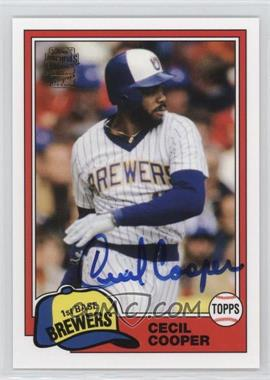 2012 Topps Archives - Fan Favorites - Certified Autograph [Autographed] #FFA-CC - Cecil Cooper