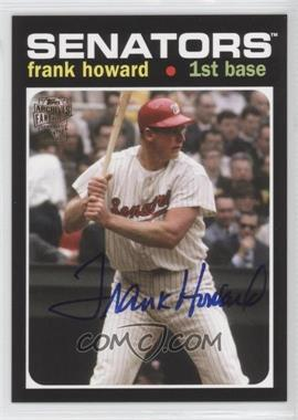 2012 Topps Archives - Fan Favorites - Certified Autograph [Autographed] #FFA-FH - Frank Howard