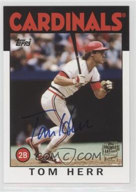 2012 Topps Archives - Fan Favorites - Certified Autograph [Autographed] #FFA-TH - Tom Herr