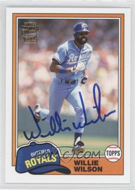 2012 Topps Archives - Fan Favorites - Certified Autograph [Autographed] #FFA-WW - Willie Wilson