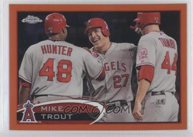 2012 Topps Chrome - [Base] - Retail Orange Refractor #144 - Mike Trout