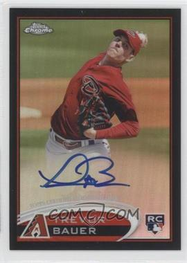 2012 Topps Chrome - Rookie Autograph - Black Refractor #TB - Trevor Bauer /100